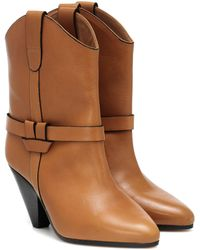 Isabel Marant Bottines Deane en cuir - Neutre