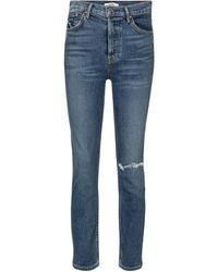GRLFRND - Reed High-rise Cropped Skinny Jeans - Lyst