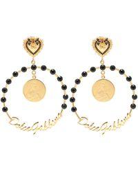 Dolce & Gabbana Branded Clip-on Earrings Gold - Metallic