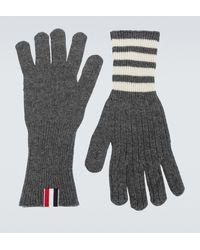Thom Browne Handschuhe aus Kaschmir - Grau