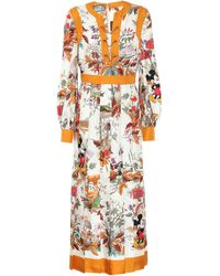 Gucci X Disney® Silk-twill Shirt Dress - White