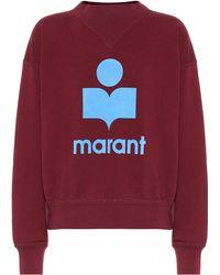 Étoile Isabel Marant Sweat-shirt Moby en coton mélangé - Rouge