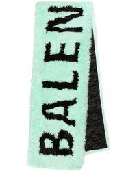 Balenciaga Logo Faux Fur Scarf - Multicolor