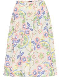 A.P.C. Ravenna Floral Cotton Skirt - Multicolour