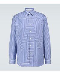 JW Anderson Gestreiftes Hemd aus Baumwolle - Blau