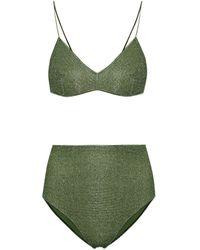 Oséree Bikini Lumiére de talle alto - Verde