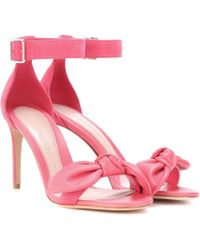 Alexander McQueen Leather And Suede Sandals - Pink