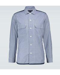 Junya Watanabe Checked Patchwork Shirt - Blue