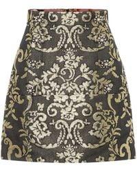 Dolce & Gabbana Cotton-blend Brocade Miniskirt - Multicolour