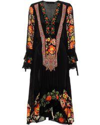 Etro Bedrucktes Kleid aus Seide - Schwarz