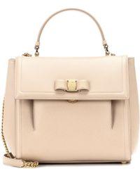 Ferragamo - Carrie Leather Shoulder Bag - Lyst
