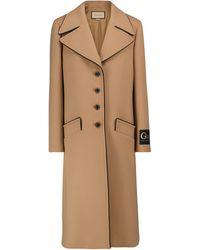 Gucci Mantel aus Wolle - Braun