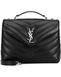 Saint Laurent Loulou Small Leather Shoulder Bag - Black