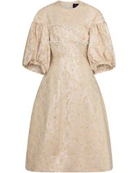 Simone Rocha Embellished Midi Dress - Natural