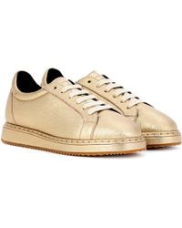 Brunello Cucinelli - Leather Trainers - Lyst