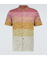 Missoni Gestricktes Kurzarmhemd - Mehrfarbig