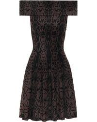 Alaïa Off-Shoulder-Kleid aus Strick - Braun