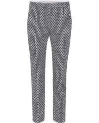 Tory Burch Cropped Block Jacquard Pants - Multicolor