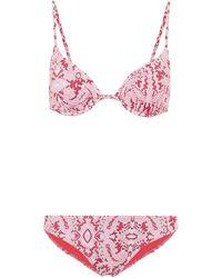 Etro Bikini estampado - Rojo