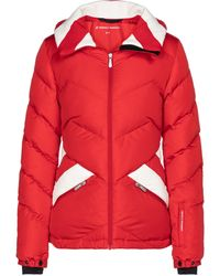 Perfect Moment Bergen Duvet Down Ski Jacket - Red