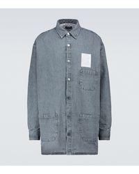 Raf Simons Padded Big-fit Denim Shirt - Grey