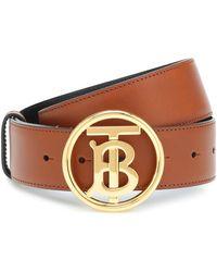 Burberry Cinturón de piel - Marrón