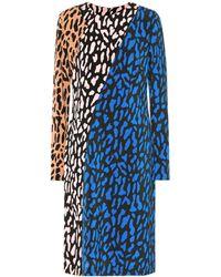 Diane von Furstenberg - Printed Long-sleeved Dress - Lyst