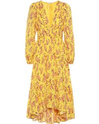 Ulla Johnson Joan Cotton And Silk Dress - Yellow