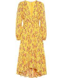 Ulla Johnson - Kleid Joan aus Baumwolle und Seide - Lyst