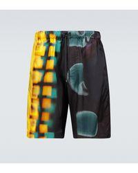 Dries Van Noten Printed Swim Shorts - Yellow