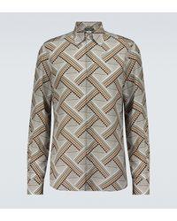 Dolce & Gabbana Camisa de seda estampada - Gris