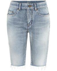 Saint Laurent Bermuda di jeans - Blu