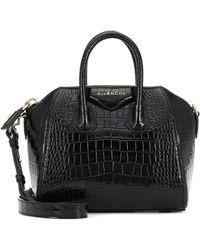 Givenchy Antigona Mini Embossed Leather Tote - Black