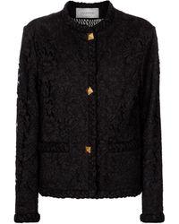 Valentino Floral-lace Jacket - Black