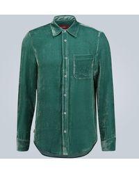 Sies Marjan Camicia Sander in velluto a coste - Verde