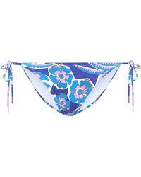 Emilio Pucci Printed Bikini Bottoms - Blue