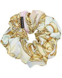 Versace Exclusive To Mytheresa – Baroque Silk-faille Scrunchie - Metallic