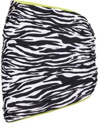 The Attico Reversible Zebra-print Miniskirt - Black