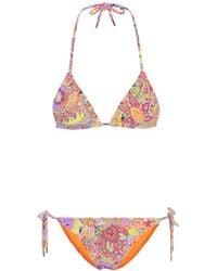 Etro - Paisley-printed Bikini - Lyst