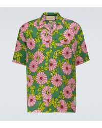 Gucci Ken Scott X Silk Bowling Shirt - Green