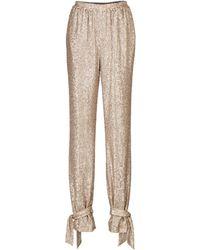 Jonathan Simkhai Mylah Sequined Trousers - Natural