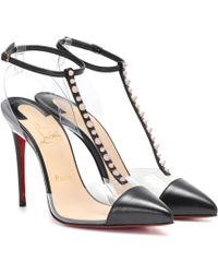 online retailer 8a50e c6deb Christian Louboutin Bianca Spikes in Black - Lyst