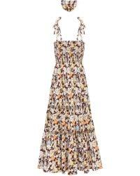 Tory Burch Floral Cotton-blend Maxi Dress - Multicolour
