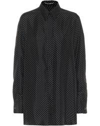 Dolce & Gabbana Hemd aus Seiden-Twill - Schwarz