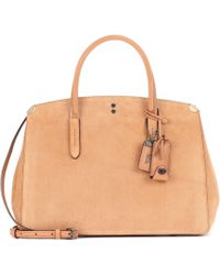 COACH   Cooper Carryall Suede Tote   Lyst