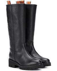 Etro - Embossed Leather Boots - Lyst