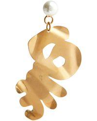 Marni Boucles d'oreilles à perles fantaisie - Métallisé