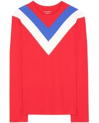 Tory Sport - Chevron Long-sleeve Top - Lyst