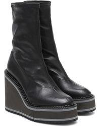 Clergerie Ankle Boots Bliss aus Leder - Schwarz
