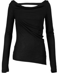 Helmut Lang Top in jersey - Nero